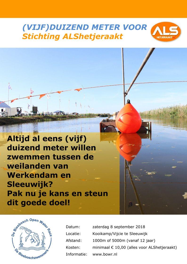 (Vijf) Duizend meter voor Stichting ALShetjeraakt